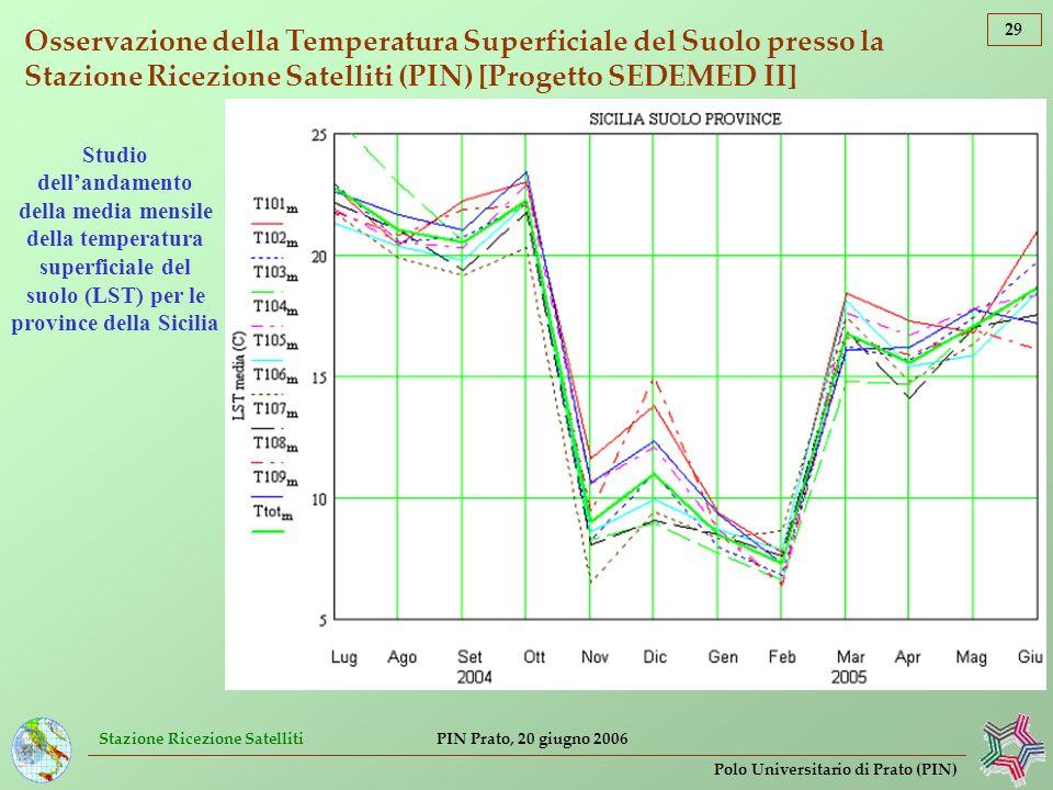 Osservazione della Temperatura Superficiale del Suolo presso la Stazione Ricezione Satelliti (PIN) [Progetto SEDEMED II]